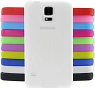 Para Funda Samsung Galaxy Antigolpes Funda Cubierta Trasera Funda Un Color Silicona Samsung S5 Mini