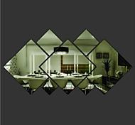 Геометрия Наклейки Зеркальные стикеры Декоративные наклейки на стены материал Съемная Украшение дома Наклейка на стену