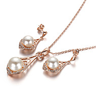 Ensemble de bijoux Cristal Perle Mode Bijoux de Luxe Set de Bijoux Soirée Occasion spéciale Anniversaire Cadeaux de mariage