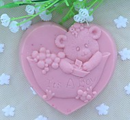 It's A Boy Heart Shaped Fondant Cake Chocolate Silicone Mold, Decoration Tools Bakeware