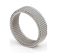 Z&X® Men's Party/Casual Fashion Reticulation Titanium Steel Rings