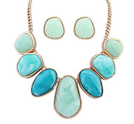 Women Geometry More Colors Alloy/Rhinestone Necklaces/Earrings Sets