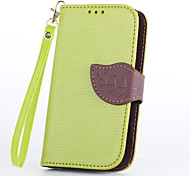 Vintage Magnetic Leaf Design Pu Leather Wallet Case for Nokia Lumia 520 N520 Flip Cover with Stand Card Slots