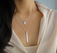 Women's Fashion Metal Chain Long Strip Pendant Necklace