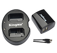 KingMa® Dual Charger+Wall USB Charger for Sony NP-FW50 Battery Alpha 7 A7 7S A6000 NEX-3N NEX-N SLT-A33 Battery