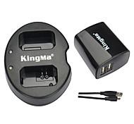 kingma® double chargeur + chargeur usb de mur pour Sony NP-FW50 batterie alpha 7 a7 7s A6000 nex-3n nex-n batterie SLT-A33