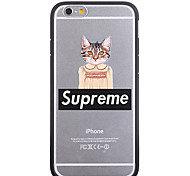 Fashion Skirt Cat Pattern Frame Back Cover for iPhone 6 Plus