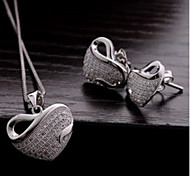 Z&X® Alloy Fashion Heart Shaped Jewelry Set Party/Daily 1set(Including Necklaces/Earrings)