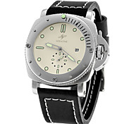 SPEATAK Men's Genuine Leather Strap Auto Mechanical Wristwatch w/ Small Second Dial/Calendar (Two Colors Options)
