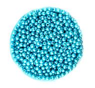 beadia 58g (ca. 2000pcs) 4mm lang abs Perlen türkise Farbe Kunststoff-Perlen