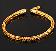U7® Men Jewelry Gifts Cool Foxtail Chain 18K Real Gold Plated High Quality Fashion 8'' Gold Bracelet