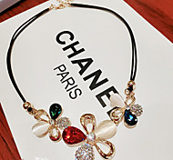 Joker fashion color crystal necklace chain of clavicle
