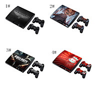 pelle designer per PlayStation PS3 Slim& telecomandi
