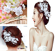 2 pcs Women Pearl/Crystal/Alloy Headbands/Hairpins/Flowers With Crystal/Pearl Wedding/Party Headpiece