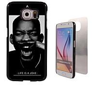 Para Funda Samsung Galaxy Diseños Funda Cubierta Trasera Funda Blanco y Negro Policarbonato Samsung S6