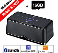 16GB TF Card Pindo W600 NFC Portable Stereo Bluetooth Speaker Play Music BT Card Read for Smartphone Sound Box Speakers
