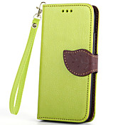 Luxury Leather Skin Card Holder Stand Magnetic For HTC One M8 Mini Phone Flip Cases Shell Leaf Pouch Wallet + Lanyard