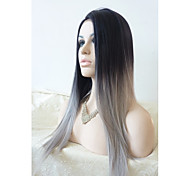24inch europe black and grey heat resistant hairwigs