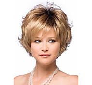 2015 женщин короткий вьющиеся парики из синтетических волос блондинка микс для женщин