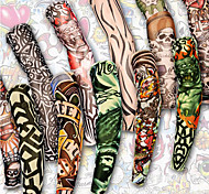 Tatuajes Adhesivos - Non Toxic/Modelo/Waterproof - Otros - Mujer/Hombre/Adulto/Juventud - Multicolor -Nailon/Policarbonato/Fibra de