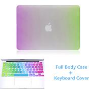 Newest Rainbow Slim Flip Full Body Hard Case and TPU Keyboard Cover for Macbook Air 13.3 inch