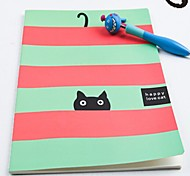 Cute Cat Pattern Notebook (Random Color)