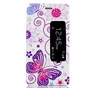 motif papillon cas de support de qualité pour Huawei p8
