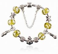 Fashion Unisex Copper/Rhinestone/Glass DIY Strand Bracelets Daily/Casual/Sports