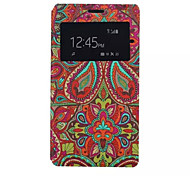 National Wind Pattern PU Leather Phone Case For Sony C4