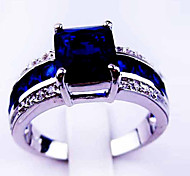 Size 10 High Quality Women Blue Sapphire Rings 10KT White Gold Filled Ring