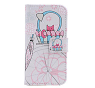 Fashion Pattern Design Pu Leather And The Card Slot Cell Phone Holster For Samsung S4 Mini I9190