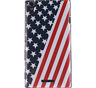 The American Flag Design TPU Soft Case for Sony Xperia T3