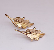 European Style Punk Leaf Shape Earrings Earrings Earpins