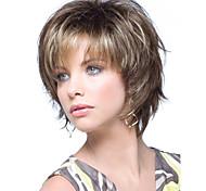 rubias pelucas de las mujeres de moda cortos marrones mezclados color con Bang
