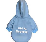 """Cute """"BIG BROTHER"""" Pattern Fleeces with Hoodies for Pets Dogs (Assorted  Sizes)"""