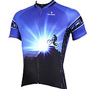 Tops / Jerseyes (Azul) - de Ciclismo / Esquí Fuera del Camino -Transpirable / Resistente a los UV / Secado rápido / Capilaridad /