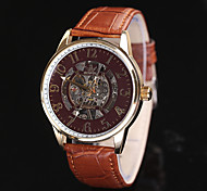 New Three Colors   Vintage Stainless Steel Fashion Pu Leather Strap Male Clock Relogio Quartz Casual Wrist Watch Men