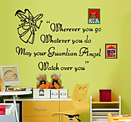 Lovely Colors Elfin English Letters PVC Wall Sticker Wall Decals