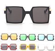Sunglasses Women's Modern / Fashion Square Black / Yellow / Red / Leopard / Transparent Sunglasses Full-Rim