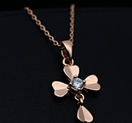 Delicate High Polished Cross Pendant Necklace