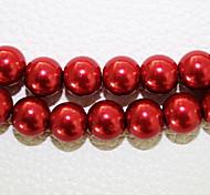 beadia 3 str (ca. 580pcs) 4mm lang Glas Perlen rote Farbe diy Spacer lose Perlen
