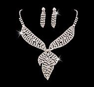 Z&X® Alloy Elegant Rhinestone/Crystal Pendant Jewelry Set Party/Wedding 1set(Including Necklaces/Earrings)