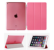 For iPad Air2 For iPad6 Smart Cover Case Front leather Cover+Transparent Back Cover