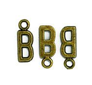beadia de breloques en alliage lettre de l'alphabet b 6x16mm bronze antique pendentifs accessoires de bricolage
