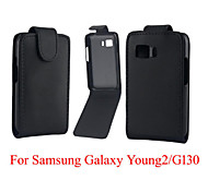 Protective PU Leather Magnetic Vertical Flip Case for Samsung Young 2 G130 G130H