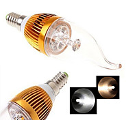 2 Stück Ding Yao Kerzenlampen E14 12 W 200-300 LM 2800-3500/6000-6500 K 4LED COB Warmes Weiß/Kühles Weiß AC 85-265 V