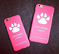 iphone 5 5s 6plus Phone Shell Stylish Cute Lovely Cat Paw Kitty Kitten Dog Paw Pattern