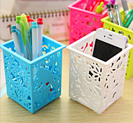Candy Color Pen Container/ Desk Storage (Random Color)