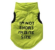 "Cool ""I'M NOT SHORT I'M BITE SIZE"" Pattern Winter Jacket for Pets Dogs (Assorted Sizes)"