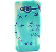 Be Free Bird Pattern PC Hard Case forSamsung Galaxy Core Prime G360 G360H G3606 G3608 Back Cover